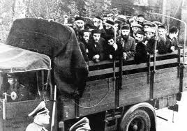 Jews rounded up in trucks